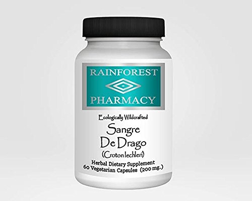Cheap Rainforest Pharmacy Sangre de Drago 200 mg 60 Vegetarian Caps Peruvian Dragon Blood