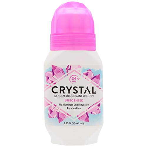Crystal Body Deodorant, (4 Pack) Mineral Deodorant Roll-On, Unscented, 2.25 fl oz (66 ml)