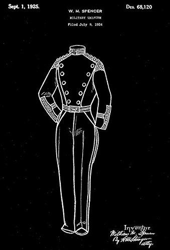 1925 - Military Uniform - W. M. Spencer - Patent Art Poster