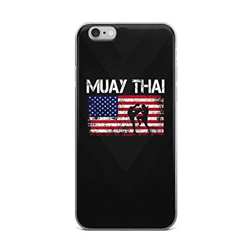 iPhone 6 Plus/6s Plus Pure Clear Case Cases Cover Muay Thai Team American Flag Independence Day Patriotic 4th of July USA