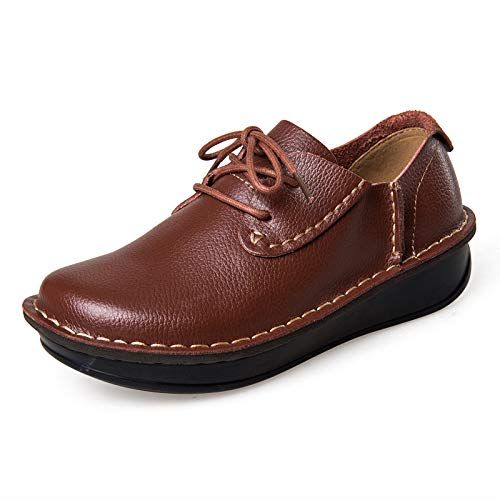 Rouge marron LOVDRAM Chaussures Hommes 35-41 Nouvelles Chaussures Simples Chaussures De Cuir Chevelu LÂches De Grande Taille Chaussures Femme De Grande Taille Chaussures Mères