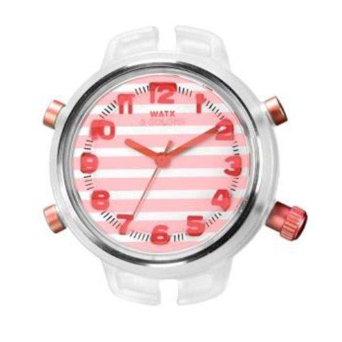 Reloj Watx Gloss & Stripes Rwa1559 Mujer Naranja