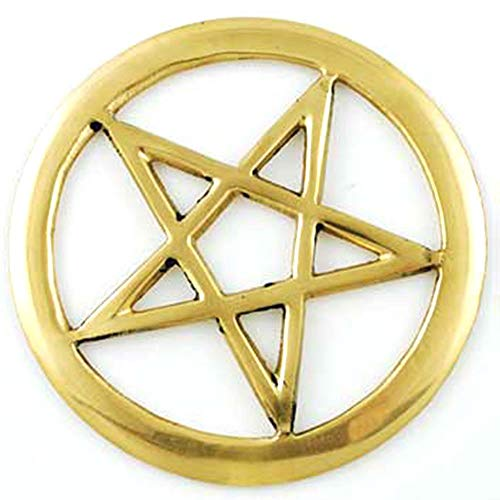 (New Brass Pentacle Altar Tile 3