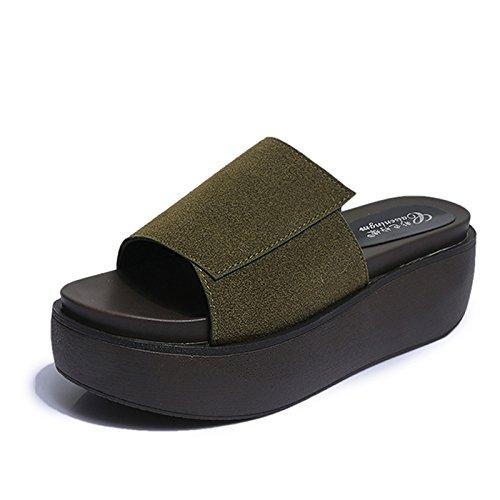 Pistoni Signore Militare Di con Laxba Alta Casa Di Scarpe Verde 39 Suola Con Centimetri La Imbottite 6 Marmo Dcotton Bel pq6dEw