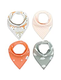 Storeofbaby Baby Bandana Drool Bibs for Boys Girls with Snaps ( Pack of 4)
