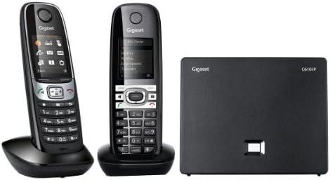 Gigaset C610 IP Duo - 2 teléfonos VoiP inalámbricos con Eco DECT (terminal adicional), color negro (importado): Amazon.es: Electrónica