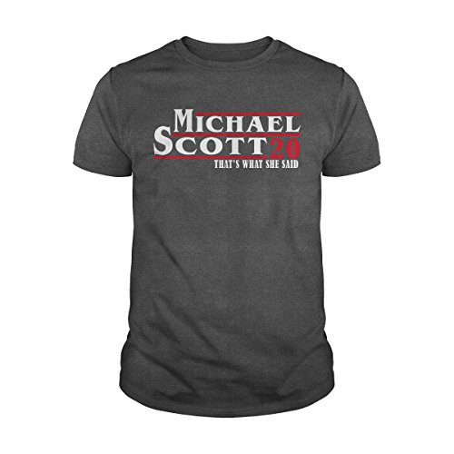 Men's The Office t Shirt Michael Scott 20 Shirt That's What she Said T-Shirt (XL, Dark Heather)