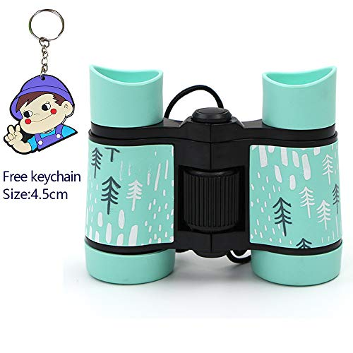 Kids Binoculars,Folding Spotting Telescope,4x30mm High Resolution Shock Proof Binoculars-for Bird Watching,Outdoor Toys Camping&Hunting,Educational Learning-Best Gifts for Children(Green)