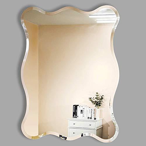 MIRROR TREND 24 x 32 Inches Rectangular Wave Beveled Venetian Frameless Wall -