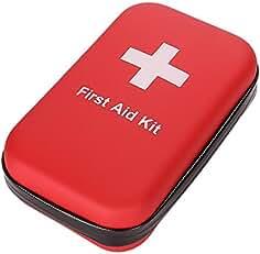 SadoMedcare First Aid Kit Waterproof Hiking, 100% Waterproof EVA Hardened Case, 72 pieces