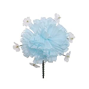 "100 Carnation with Baby's Breath 4.5"" Artificial Silk Flower Pick - Multiple Colors Available 25"