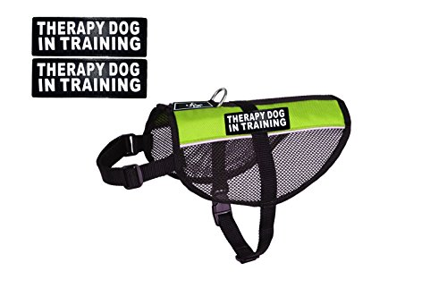 Therapy Dog mesh Vest Harness Cool Comfort Nylon Purchase Comes with 2 Reflective Therapy Dog in Training Removable Patches. Please Measure Your Dog Before Ordering by Doggie Stylz