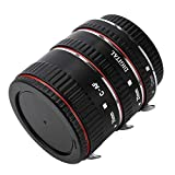 Metal Macro Extension Tube for Canon,PIXEL Auto Focus AF Macro Extension Tube Ring for Canon EOS 300D,350D, 450D, 500D, 550D, 600D, 650D, 700D, 1100D EF-S Lens.