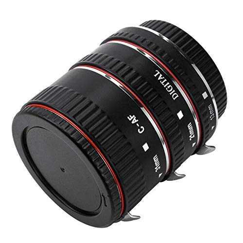 Metal Macro Extension Tube for Canon,PIXEL Auto Focus AF Macro Extension Tube Ring for Canon EOS 300D,350D, 450D, 500D, 550D, 600D, 650D, 700D, 1100D EF-S Lens.