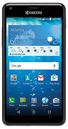 "Cricket KYOCERA Hydro View 5"" QHD Display 4G LTE Water Proof and Dust Proof (3ft/30min) (Locked to Cricket)"