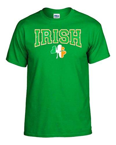 Cottage Vacation Rentals (Green White and Orange Irish Shamrock All Cotton Womens T-shirt Size Medium)