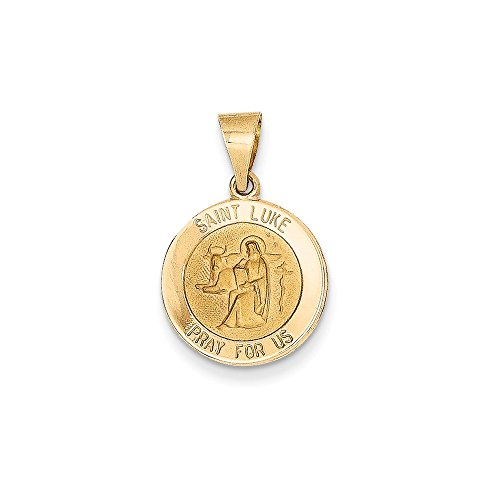 14k Yellow Gold Saint Luke Medal - Shopping Lukes St