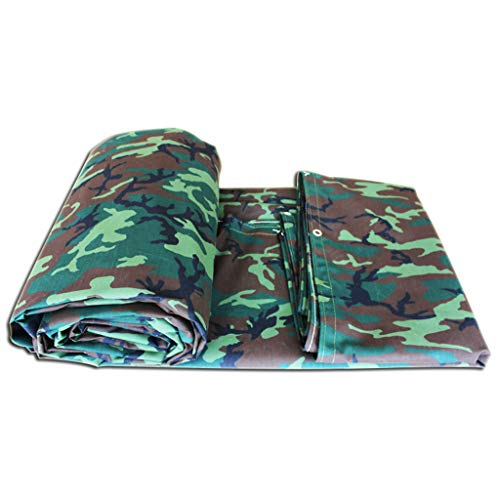 JLDNC Heavy Duty Waterproof Camouflage Tarp, 39mil Camouflage Tarpaulin Cover with Grommets,Multi-Purpose Canvas Tarpaulin/with Protection,6x4.5Ft/2x1.5m