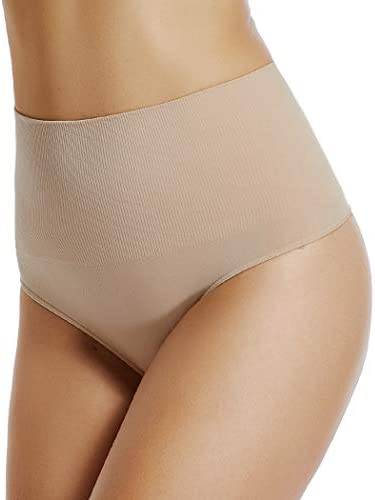 High Rise Thong Underwear for Women Seamless Thong Shapewear Tummy Control Shaping Panties