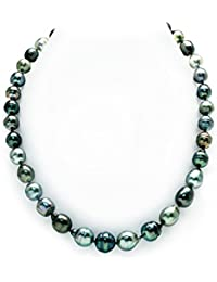 "14K Gold 9-11mm Tahitian Multicolor South Sea Baroque Cultured Pearl Necklace - AAA Quality, 20"" Length"