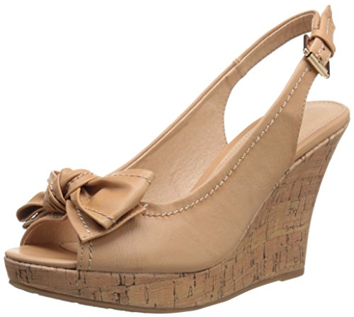 CL by Chinese Laundry Women's Ilissa Wedge Pump Sandal, Nude Burnished,  8 M (Peep Wedge Pump)