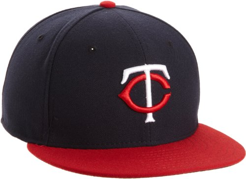 MLB Minnesota Twins Road AC On Field 59Fifty Fitted Cap-738