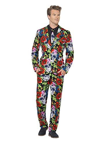 Day Of The Dead Costume With Trousers Jacket & Tie]()
