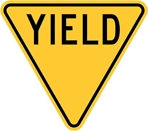 Traffic Signs - Yield 12 x 8 Aluminum Sign Street Weather Approved Sign 0.04 Thickness