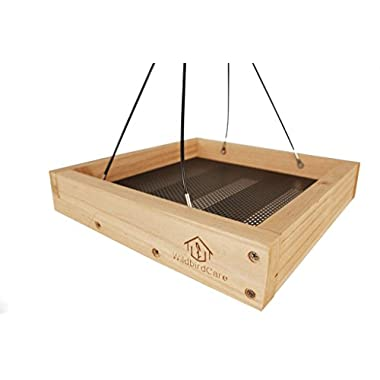 WildBird Care Hanging Platform Tray Bird Feeder BCF3A, Natural Color