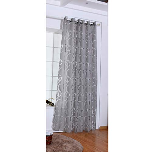 Danyerst Modern Circle Bubble Door Window Curtain, Panel Drapes Scarf Valances For Bedroom Living Room