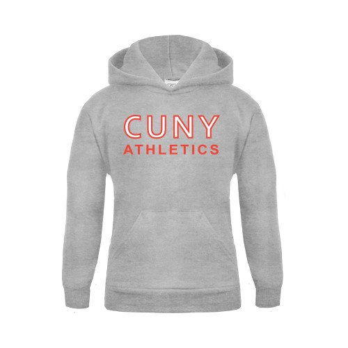CUNYAC Youth Grey Fleece Hood CUNY Athletics