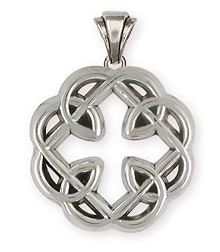 (Celtic Knot Father And Daughter Cross Jewelry Sterling Silver Celtic Knot Father And Daughter Cross Pendant Handmade Celtic Jewelry MFC-P)
