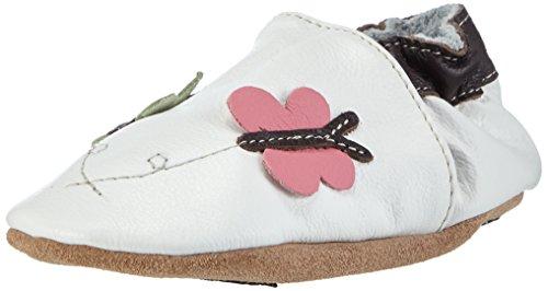HOBEA-Germany Lauflernschuhe Schmetterlinge - Pantuflas para bebés weiß