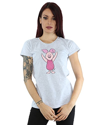 (Disney Women's Classic Piglet T-Shirt Medium Heather)