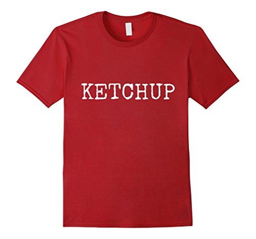 Funny Themed Group Halloween Costumes (Mens KETCHUP Halloween Group Costume T-Shirt Funny Large)
