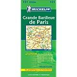 Carte routière : Grande banlieue de Paris (du périphérique à la Francilienne)