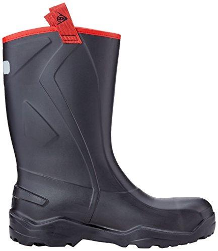 Dunlop - Botas de poliuretano para mujer Rojo (Black)