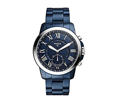Fossil Hybrid Smartwatch - Q Grant Navy Blue Stainless Steel by Fossil