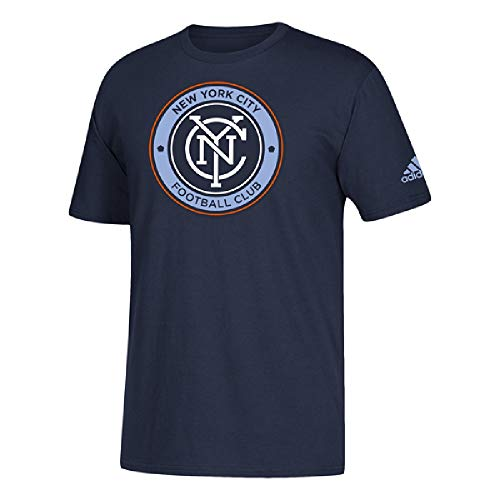 adidas New York City FC Men's Team Logo T-Shirt (Medium) (Adidas Shirt Futbol)
