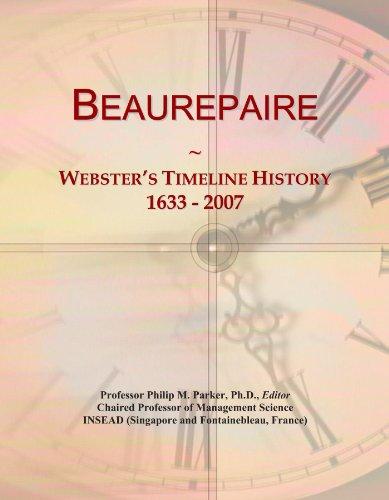 beaurepaire-websters-timeline-history-1633-2007