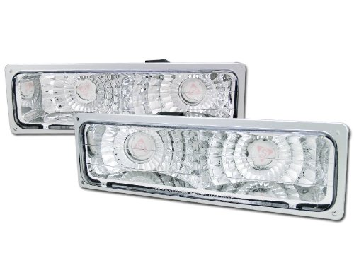 (R&L Racing Chrome Clear Signal Bumper Lights Lamps Yd 88-00 Chevy Gmc C10 Ck C/K)