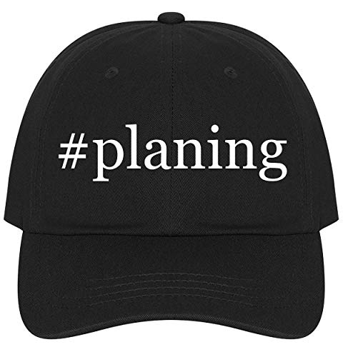 The Town Butler #planing - A Nice Comfortable Adjustable Hashtag Dad Hat Cap, Black