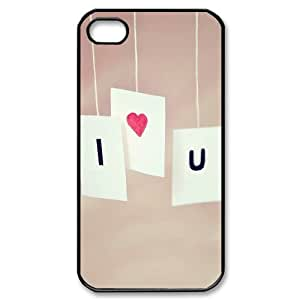Love Series, IPhone 4/4s Cases, i Love You Ilike Cases for IPhone 4/4s [Black]