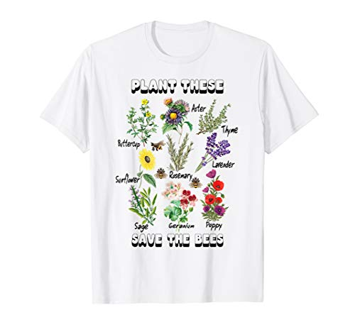 Save the Bees Honey Flower Beekeeper Plant These T-Shirt
