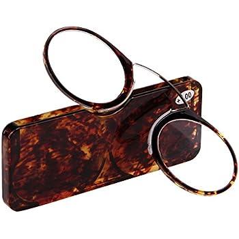 9ce998f6ac24 Doober Unisex Nose Resting Reading Glasses Presbyopic Eyeglasses Full Frame  +1.0 To +3.5 (Amber