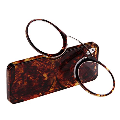 Doober Unisex Nose Resting Reading Glasses Presbyopic Eyeglasses Full Frame +1.0 To +3.5 (Amber, - Frames Popular Most Eyeglass For Men