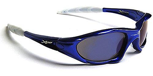X-Loop Lunettes de Soleil - Sport - Cyclisme - Ski - Squash - Conduite - Moto - Plage / Mod. 010P Bleu Blanc lhFMr