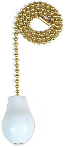 Ace Pull Chain - Jandorf 60319 Pull Chain with White Wooden Knob, 12