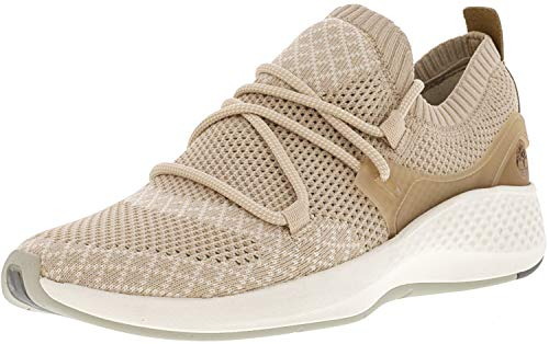 (Timberland Womens FlyRoam Go Knit Chukka Apple Blossom Sneaker - 8.5)