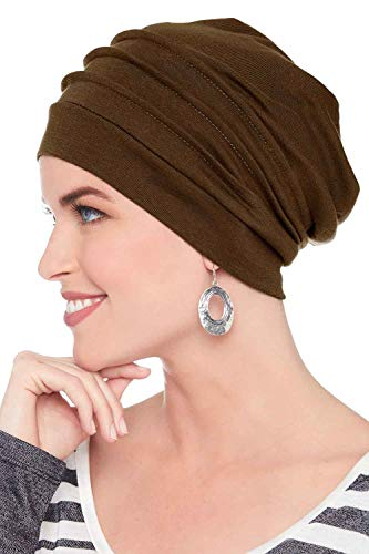 Headcovers Unlimited Slouchy Snood-Caps for Women with Chemo Cancer Hair Loss - Headcover Turban